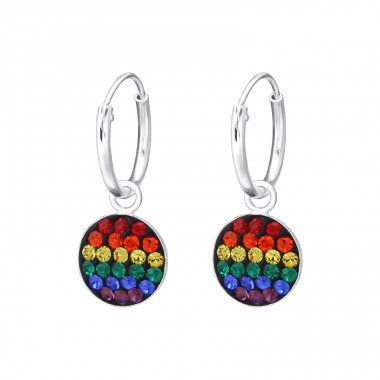 Rainbow - 925 Sterling Silver Ear Hoops A4S36257