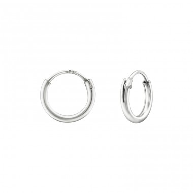 8 mm - 925 Sterling Silver Ear Hoops A4S38382