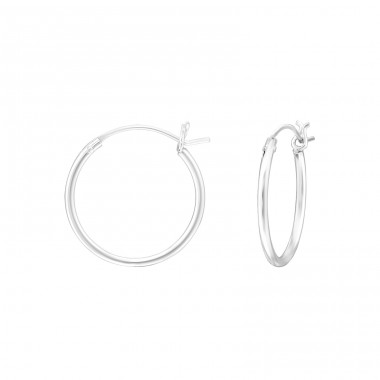16mm - 925 Sterling Silver Ear Hoops A4S38587