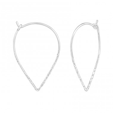 Geometric - 925 Sterling Silver Ear Hoops A4S38590