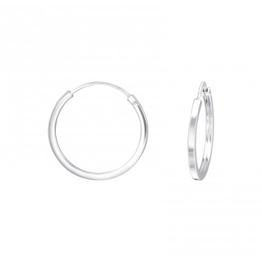 20mm - 925 Sterling Silver Ear Hoops A4S38654