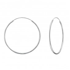 40mm - 925 Sterling Silver Ear Hoops A4S39074