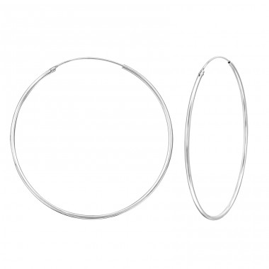 50mm - 925 Sterling Silver Ear Hoops A4S39196