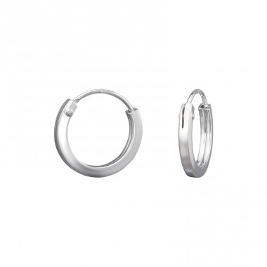 12mm - 925 Sterling Silver Ear Hoops A4S39464