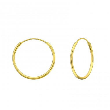 20mm - 925 Sterling Silver Ear Hoops A4S39655