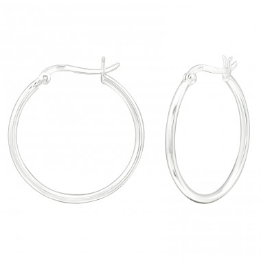 30mm - 925 Sterling Silver Ear Hoops A4S39917