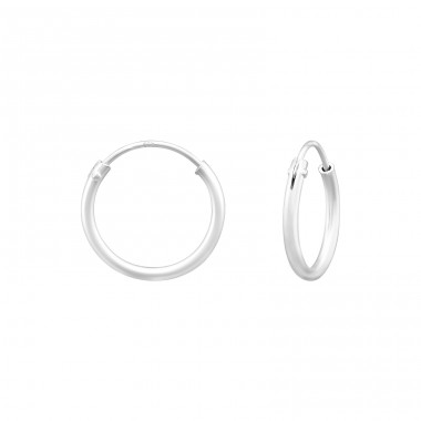 12mm - 925 Sterling Silver Ear Hoops A4S40262
