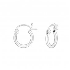 French Lock - 925 Sterling Silver Ear Hoops A4S7028