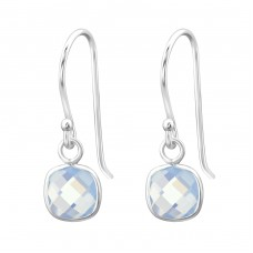 Square - 925 Sterling Silver Earrings with semi-precious stones A4S27977