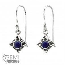 Celtic - 925 Sterling Silver Earrings with semi-precious stones & Opal A4S31249