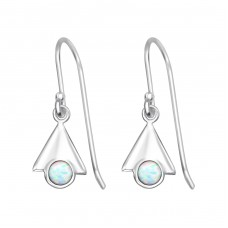 Triangle Opal - 925 Sterling Silver Earrings with semi-precious stones & Opal A4S32051