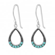 Drop - 925 Sterling Silver Earrings with Pearls A4S25874