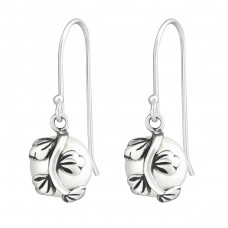 Branch - 925 Sterling Silver Earrings with Pearls A4S37067
