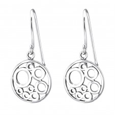 Round - 925 Sterling Silver Basic Earrings A4S13371