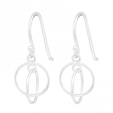 Circle - 925 Sterling Silver Basic Earrings A4S14009