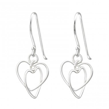 Heart - 925 Sterling Silver Basic Earrings A4S14079