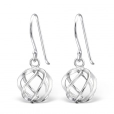 Knot - 925 Sterling Silver Basic Earrings A4S14099