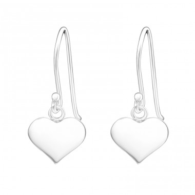 Heart - 925 Sterling Silver Basic Earrings A4S15366
