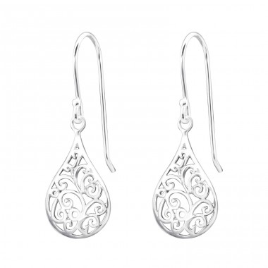 Drop - 925 Sterling Silver Basic Earrings A4S20138