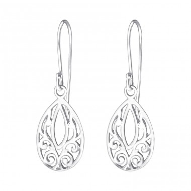 Drop - 925 Sterling Silver Basic Earrings A4S20140