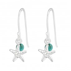 Starfish - 925 Sterling Silver Basic Earrings A4S22124
