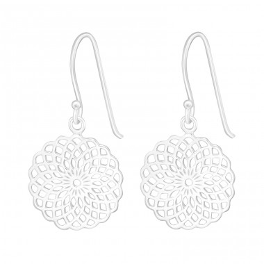 Mosaic - 925 Sterling Silver Basic Earrings A4S23470