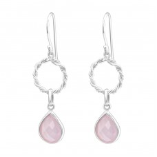 Round - 925 Sterling Silver Basic Earrings A4S24519