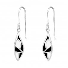 Marquise - 925 Sterling Silver Basic Earrings A4S25855