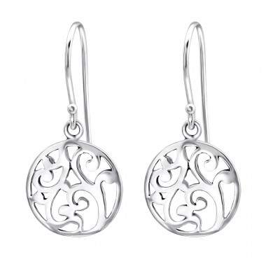 Round - 925 Sterling Silver Basic Earrings A4S27054