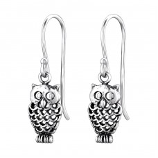 Owl - 925 Sterling Silver Basic Earrings A4S27782