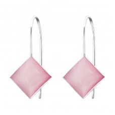Square - 925 Sterling Silver Basic Earrings A4S28336