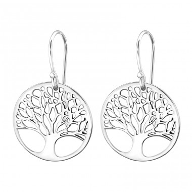 Tree Of Life - 925 Sterling Silver Basic Earrings A4S29428
