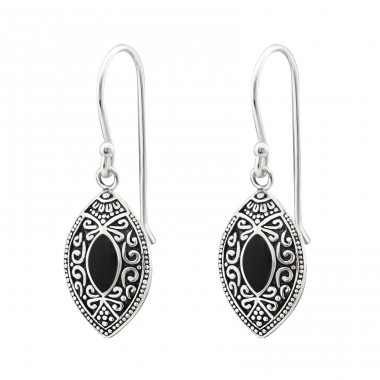 Marquise Bali - 925 Sterling Silver Basic Earrings A4S30608