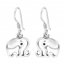 Elephant - 925 Sterling Silver Basic Earrings A4S30750