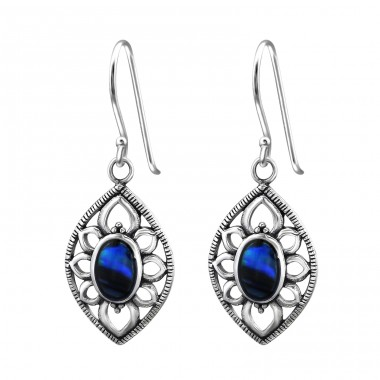 Marquise - 925 Sterling Silver Basic Earrings A4S30829