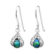 Teardrop - 925 Sterling Silver Basic Earrings A4S30830