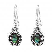 Oval - 925 Sterling Silver Basic Earrings A4S31201