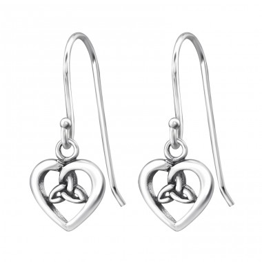Celtic Heart - 925 Sterling Silver Basic Earrings A4S31240