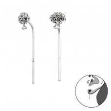 Tree Of Life - 925 Sterling Silver Basic Earrings A4S31306