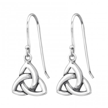 Trinity Knot - 925 Sterling Silver Basic Earrings A4S31418