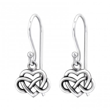 Celtic Heart - 925 Sterling Silver Basic Earrings A4S31565