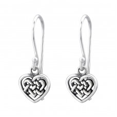 Celtic Heart - 925 Sterling Silver Basic Earrings A4S31567