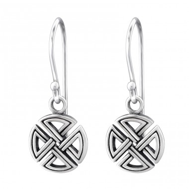 Celtic - 925 Sterling Silver Basic Earrings A4S31570
