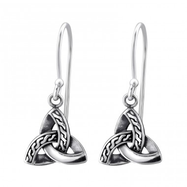 Trinity Knot - 925 Sterling Silver Basic Earrings A4S31574