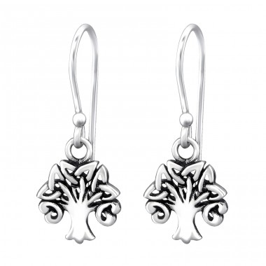 Celtic Tree Of Life - 925 Sterling Silver Basic Earrings A4S31611