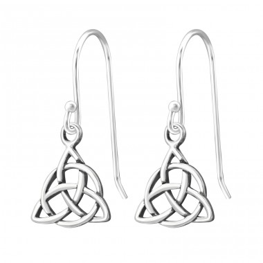 Celtic Knot - 925 Sterling Silver Basic Earrings A4S31739