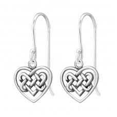 Celtic Heart - 925 Sterling Silver Basic Earrings A4S31740