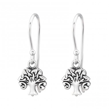 Celtic Tree Of Life - 925 Sterling Silver Basic Earrings A4S31741