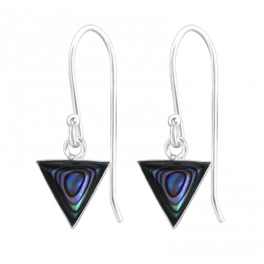 Triangle - 925 Sterling Silver Basic Earrings A4S31920