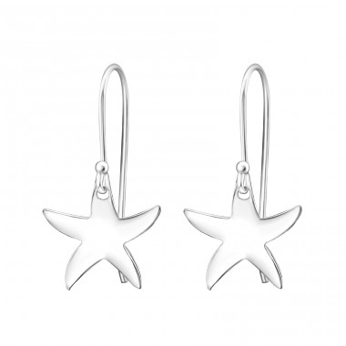 Starfish - 925 Sterling Silver Basic Earrings A4S31922